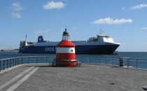 Feuer auf der Corona Seaways Fähre von DFDS