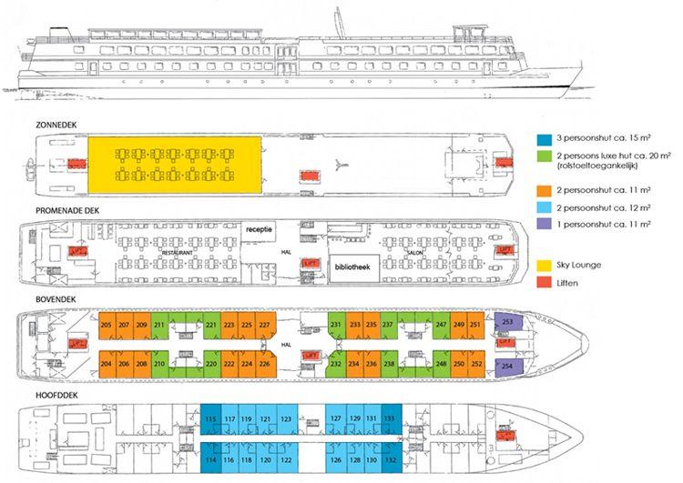 Deckplan der MS Alegria / © Adelle Cruises