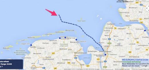Norwegian Getaway in der deutschen Bucht / © Screeshot www.marinetraffic.com.