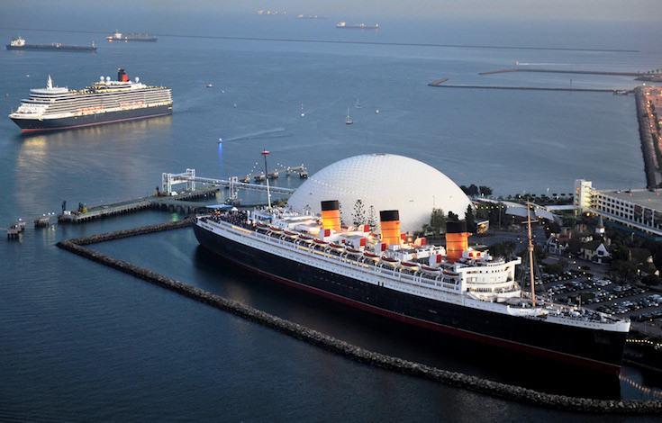 Queen Elizabeth besucht Queen Mary in Long Beach / © Cunard