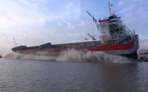 Video: Stapellauf der REGGEBORG auf Ferus Smit Werft in Leer