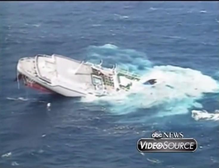 MS Oceanos: Der Untergang vor Südafrika im Jahr 1991 / © ABC News (Youtube Screenshot)