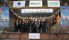 Baustart für LNG Barge: Sauberer Strom für AIDAsol im Hamburger Hafen
