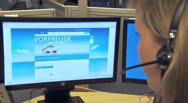 AIDA sucht Reiseberater für das AIDA Kundencenter / © AIDA Cruises (Screenshot Video)