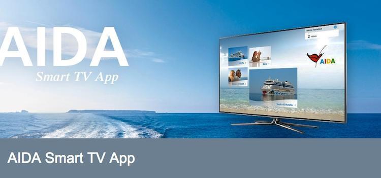 AIDA Smart TV App für Samsung TVs / © AIDA Cruises (Screeshot)