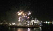 Feuerwerk für die Norwegian Getaway in Rotterdam