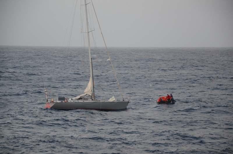 Havarierte Segelyacht Buccanier im Atlantik / © Costa Crociere