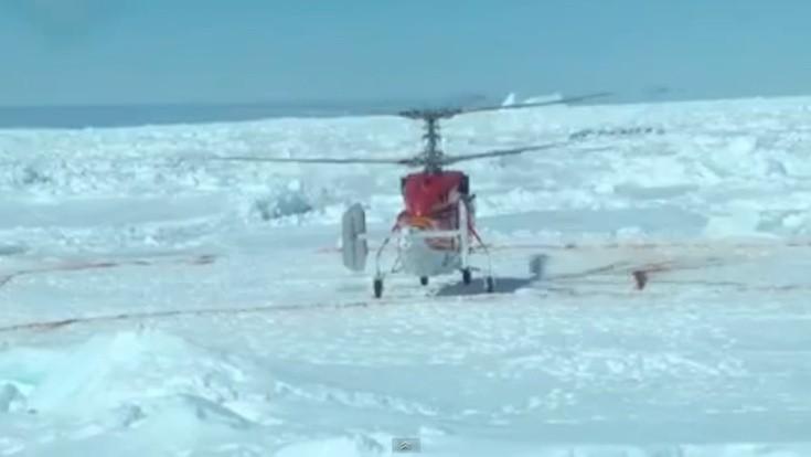 Helikopter der Snow Dragon in der Antarktis / © Screenshot Youtube (Intrepid Science)