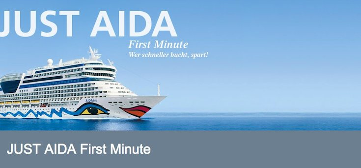 Just AIDA First Minute - Günstige AIDA Seereisen / © AIDA Cruises