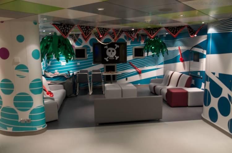 Piraten Kidsclub auf Norwegian Getaway