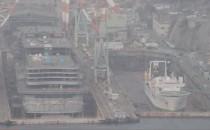 Video vom Baudock mit AIDAprima auf der Mitsubishi Werft