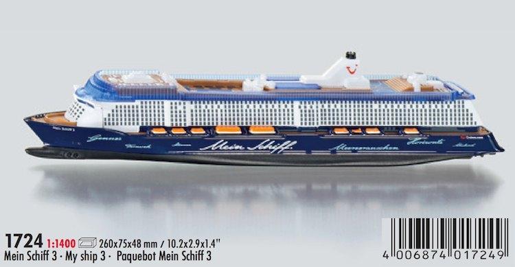 Modell Schiff SIKU 1724: Mein Schiff 3 von TUi Cruises / © SIKU Verkaufsprospekt