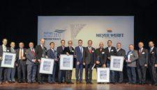 Partner des Jahres werden auf der Meyer Werft in Papenburg geehrt