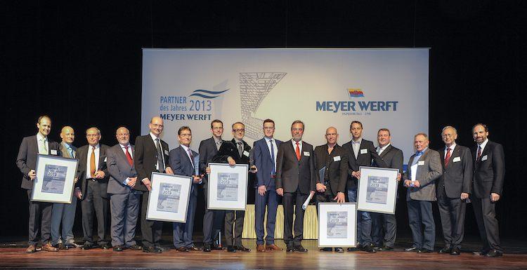 Partner des Jahres Ehrung 2014 / © Meyer Werft