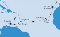 14 Tage Karibik- Kap-Verde und Kanaren-Kreuzfahrt inkl. Flüge für 945 Euro!!