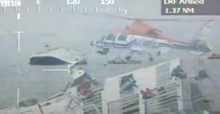 """Fähre """"Sewol"""" mit 477 Menschen gesunken / © Youtube BBC"""