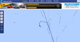 AIDAbella dreht wegen medizinischen Notfall / © Marinetraffic.com