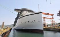 AIDAprima: Neue Bilder aus Japan – AIDA Neubau im Baudock der Mitsubishi Werft (Oktober 2014)