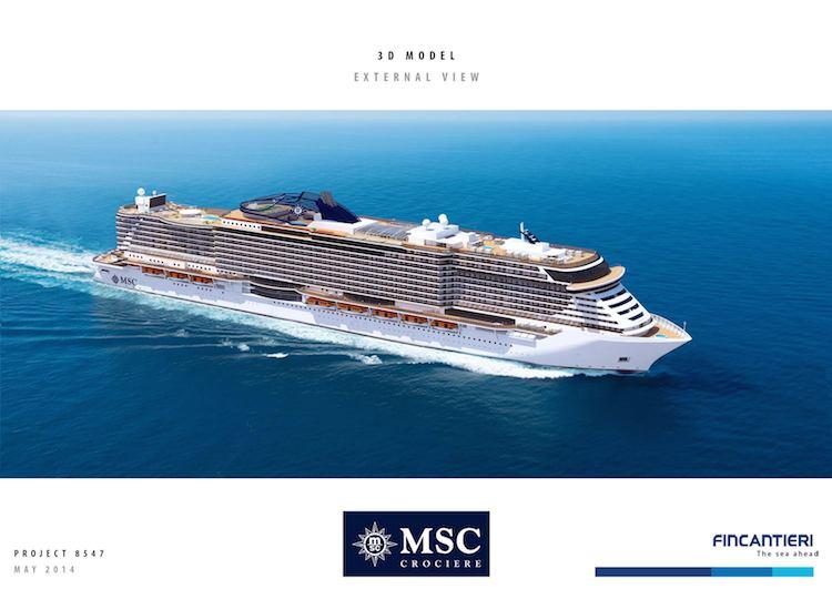 MSC Kreuzfahrten: Neubauten aus der Fincantieri Werft / © MSC Kreuzfahrten