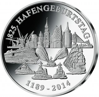 Sondermünze zum Hamburger Hafengeburtstag