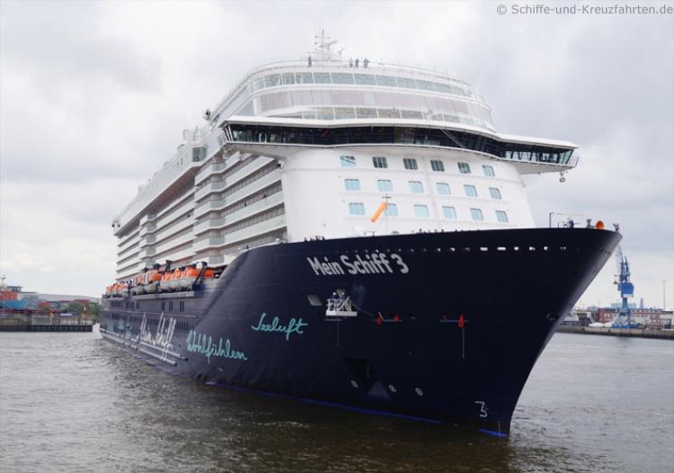 Mein Schiff 3 Taufe in Hamburg