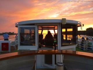 A-Rosa Silva Steuerhaus - Sonnenuntergang auf der Donau
