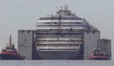 Letztes Opfer aus der Costa Concordia geborgen in der Abwrackwerft