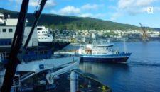Video: Schiff rammt Mein Schiff 1 in Bergen