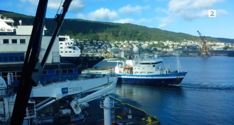 Mein Schiff 1 wird in Bergen gerammt / © TV2.NO Video-Screenshot