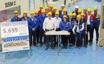 Ovation of the Seas: Stahlschnitt auf der Meyer Werft