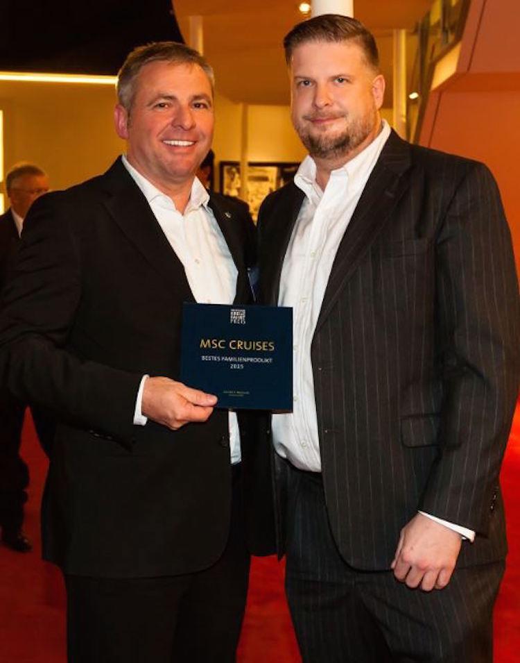 MSC Deutschland-Chef Michael Zengerle und Oliver P. Mueller / © MSC Kreuzfahrten