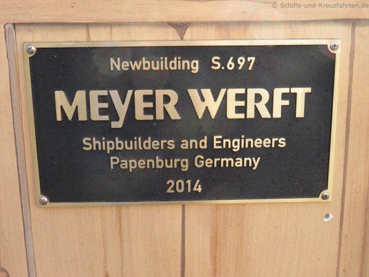 Bauschild Meyer Werft - Quantum of the Seas