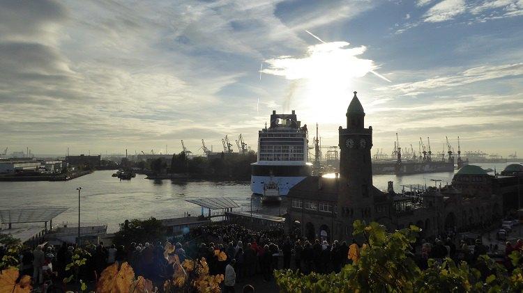 Quantum of the Seas beim Eindocken ins Elbe 17 Dock von Blohm und Voss / © Philip Jaeger-Booth