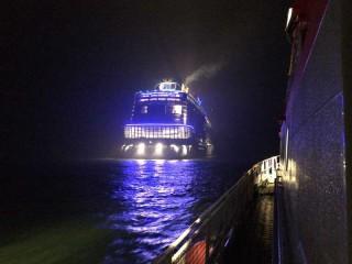 Seenotretter bei der Quantum of the Seas / © DGZRS
