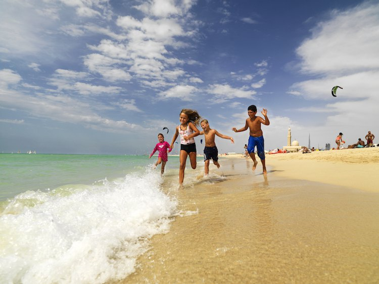 Der Strand in Dubai