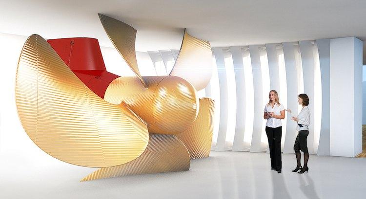 Meyer Werft Besucherzentrum Schiffsschraube / © Meyer Werft