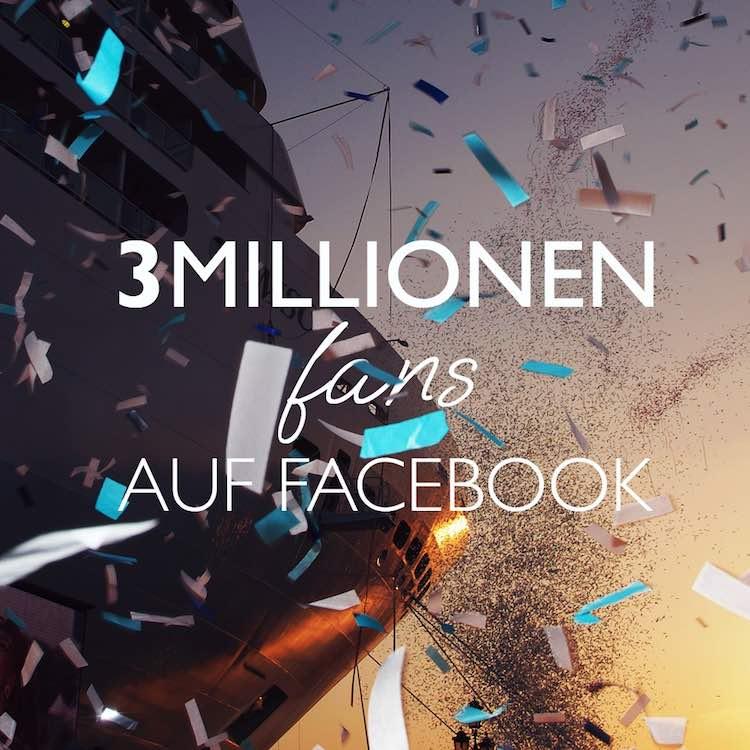 MSC hat weltweit 3 Millionen Facebookfans