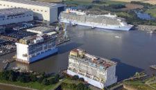 Rückblick auf 2014 von der Meyer Werft in Papenburg