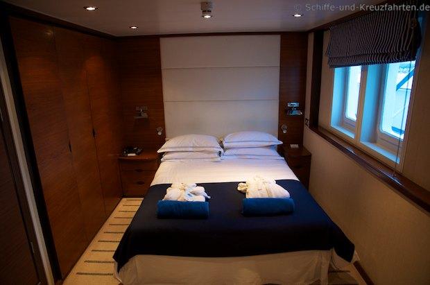 Grand Suite der MS Berlin: Schlafbereich