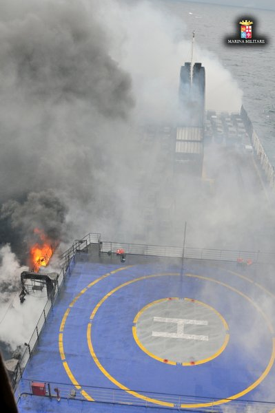 Norman Atlantic - Rettungsaktion / © Italienische Marine