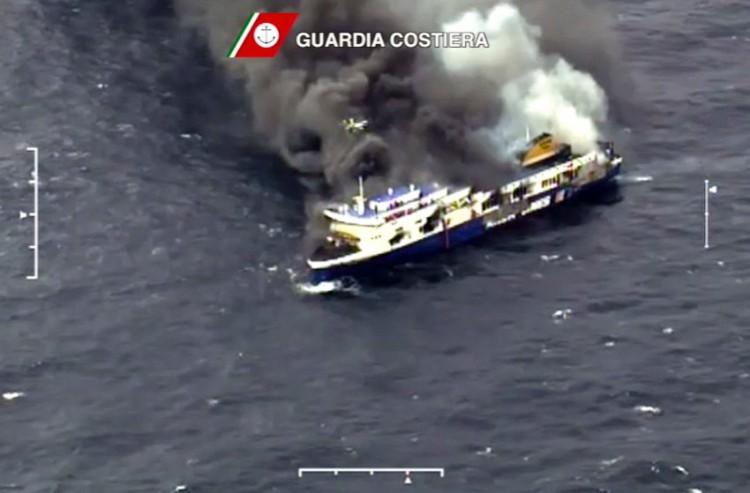 Feuer an Bord der Norman Atlantic / © Italienische Küstenwache