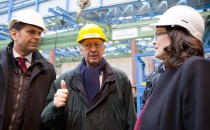 Andrea Nahles und Olaf Lies besuchten die Meyer Werft