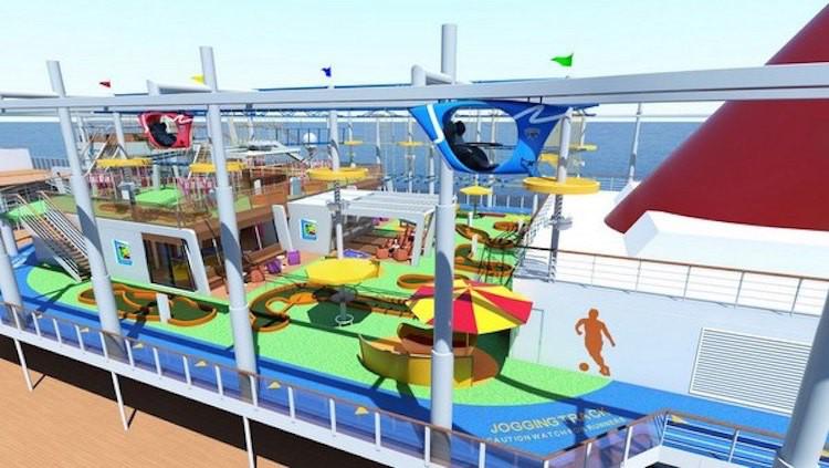 Pooldeck Attraktionen der Carnival Vista / © Carnival Cruise Line