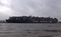 Video: CSCL Globe Erstanlauf am 13.1.2015 in Hamburg