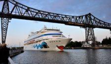 Umroutung: AIDAcara nicht im Nordostsee-Kanal (30.04.17)