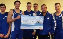 15.000 Euro Spende von AIDA für die Kugelstoßer vom SC Neubrandenburg