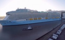Video aus der Luft: Anthem of the Seas vor der Meyer Werft