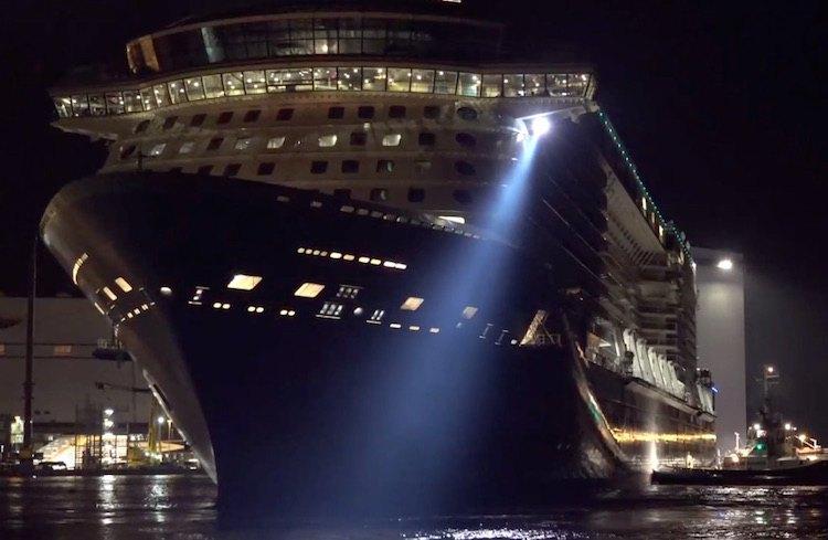 Anthem of the Seas ausdocken auf der Meyer Werft / © Inselvideo