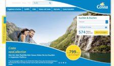 Costa Kreuzfahrten mit neuer AIDA-Webseite