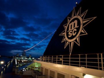MSC Lirica wieder im östlichen MIttelmeer